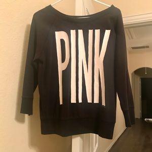 PINK by Victoria's Secret black pullover